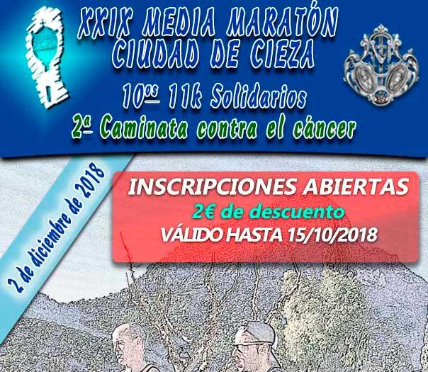 Abierta las inscripciones de la media maratón de Cieza